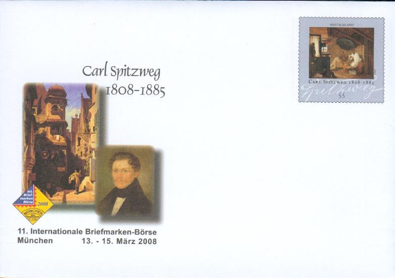 germany ps cover carl spitzweg arme poor poet cg45 ebay. Black Bedroom Furniture Sets. Home Design Ideas