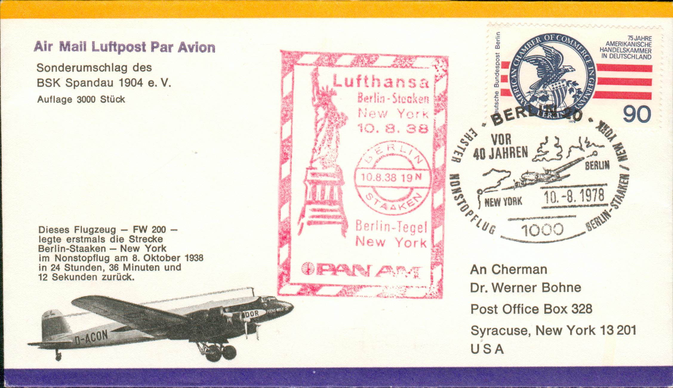 Persönliche Briefe Usa : Berlin staaken usa briefe ffc luftbrücke airlift gf ebay